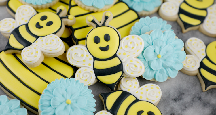 Cute Bumble Bee Cookies